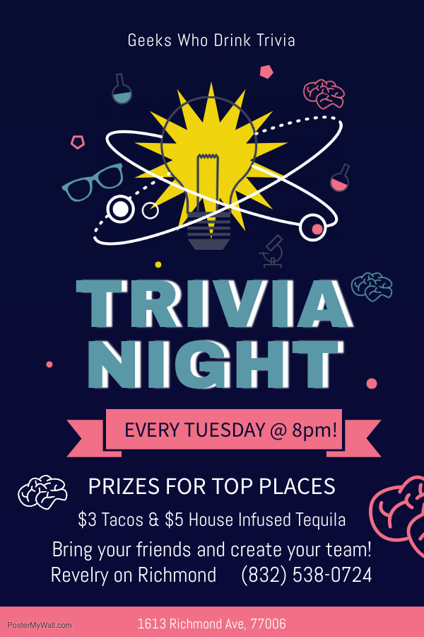 Copy of Trivia Night Blue Poster – Made with PosterMyWall